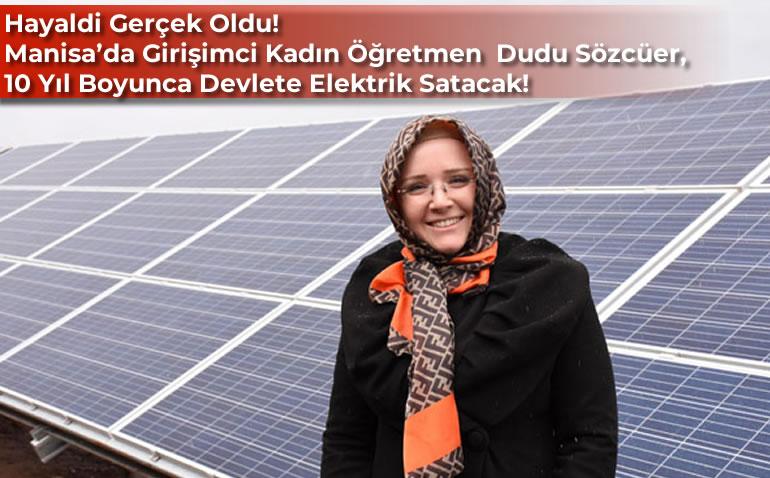 GİRİŞİMCİ KADIN ÖĞRETMEN GÜNEŞ ENERJİSİ SANTRALİ KURDU